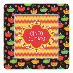 Cinco De Mayo Square Decal - Medium (Personalized)