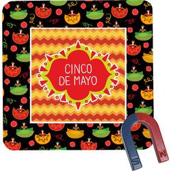 Cinco De Mayo Square Fridge Magnet (Personalized)