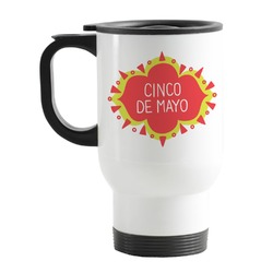 Cinco De Mayo Stainless Steel Travel Mug with Handle