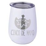 Cinco De Mayo Stemless Wine Tumbler - 5 Color Choices - Stainless Steel  (Personalized)