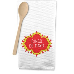 Cinco De Mayo Waffle Weave Kitchen Towel (Personalized)