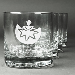 Cinco De Mayo Whiskey Glasses (Set of 4) (Personalized)