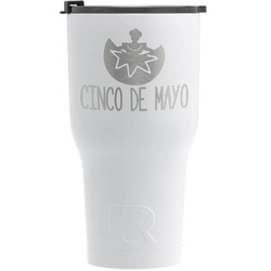 Cinco De Mayo RTIC Tumbler - White - Engraved Front (Personalized)