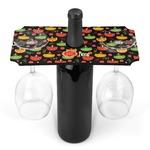 Cinco De Mayo Wine Bottle & Glass Holder (Personalized)