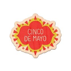 Cinco De Mayo Genuine Wood Sticker (Personalized)