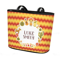 Fiesta - Cinco de Mayo Bucket Tote w/ Genuine Leather Trim (Personalized)