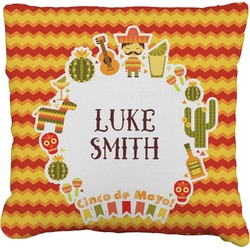 Fiesta - Cinco de Mayo Faux-Linen Throw Pillow (Personalized)