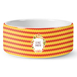 Fiesta - Cinco de Mayo Ceramic Dog Bowl (Personalized)