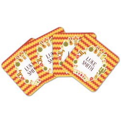 Fiesta - Cinco de Mayo Cork Coaster - Set of 4 w/ Name or Text