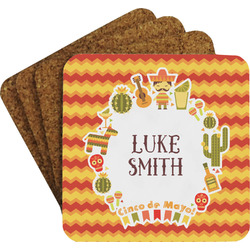 Fiesta - Cinco de Mayo Coaster Set w/ Stand (Personalized)
