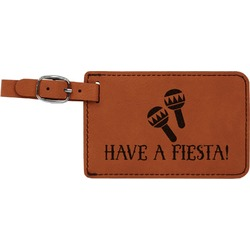 Fiesta - Cinco de Mayo Leatherette Luggage Tag (Personalized)