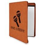 Fiesta - Cinco de Mayo Leatherette Zipper Portfolio with Notepad (Personalized)