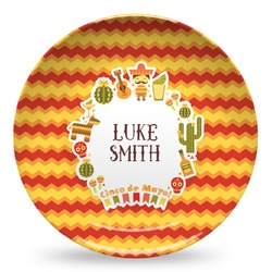 Fiesta - Cinco de Mayo Microwave Safe Plastic Plate - Composite Polymer (Personalized)
