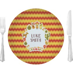 "Fiesta - Cinco de Mayo Glass Lunch / Dinner Plates 10"" - Single or Set (Personalized)"