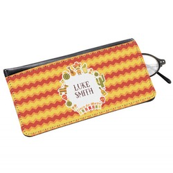 Fiesta - Cinco de Mayo Genuine Leather Eyeglass Case (Personalized)