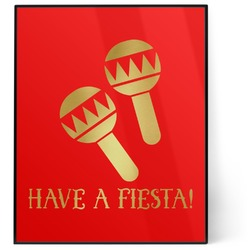 Fiesta - Cinco de Mayo 8x10 Foil Wall Art - Red (Personalized)