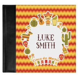 Fiesta - Cinco de Mayo Genuine Leather Baby Memory Book (Personalized)