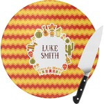 Fiesta - Cinco de Mayo Round Glass Cutting Board (Personalized)