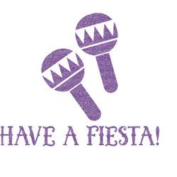 Fiesta - Cinco de Mayo Glitter Sticker Decal - Custom Sized (Personalized)