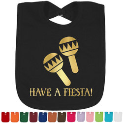 Fiesta - Cinco de Mayo Foil Toddler Bibs (Select Foil Color) (Personalized)