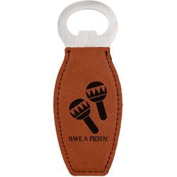 Fiesta - Cinco de Mayo Leatherette Bottle Opener (Personalized)