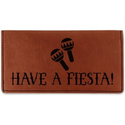 Fiesta - Cinco de Mayo Leatherette Checkbook Holder - Double Sided (Personalized)
