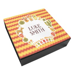 Fiesta - Cinco de Mayo Leatherette Keepsake Box - 3 Sizes (Personalized)