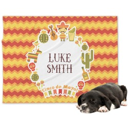 Fiesta - Cinco de Mayo Minky Dog Blanket (Personalized)