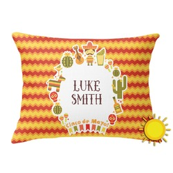 Fiesta - Cinco de Mayo Outdoor Throw Pillow (Rectangular) (Personalized)