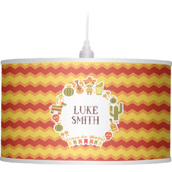 Fiesta - Cinco de Mayo Drum Pendant Lamp Linen (Personalized)