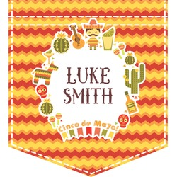 Fiesta - Cinco de Mayo Iron On Faux Pocket (Personalized)