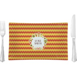 Fiesta - Cinco de Mayo Glass Rectangular Lunch / Dinner Plate - Single or Set (Personalized)