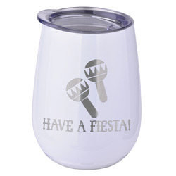 Fiesta - Cinco de Mayo Stemless Wine Tumbler - 5 Color Choices - Stainless Steel  (Personalized)