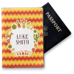 Fiesta - Cinco de Mayo Vinyl Passport Holder (Personalized)