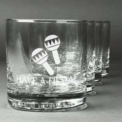 Fiesta - Cinco de Mayo Whiskey Glasses (Set of 4) (Personalized)
