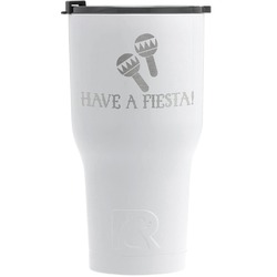 Fiesta - Cinco de Mayo RTIC Tumbler - White - Engraved Front (Personalized)