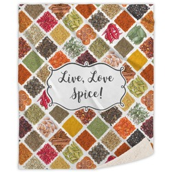 Spices Sherpa Throw Blanket (Personalized)