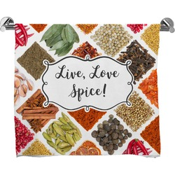 Spices Full Print Bath Towel (Personalized)