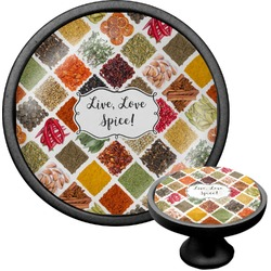 Spices Cabinet Knob (Black) (Personalized)