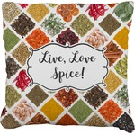 Spices Faux-Linen Throw Pillow (Personalized)