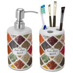 Spices Ceramic Bathroom Accessories Set