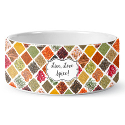 Spices Ceramic Dog Bowl (Personalized)