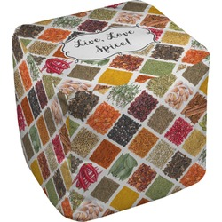Spices Cube Pouf Ottoman (Personalized)