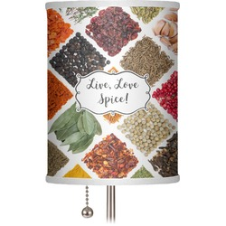 "Spices 7"" Drum Lamp Shade (Personalized)"