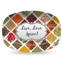 Spices Plastic Platter - Microwave & Oven Safe Composite Polymer (Personalized)