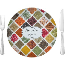 "Spices 10"" Glass Lunch / Dinner Plates - Single or Set (Personalized)"