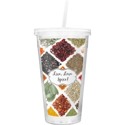 Spices Double Wall Tumbler with Straw (Personalized)
