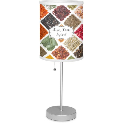 """Spices 7"""" Drum Lamp with Shade (Personalized)"""