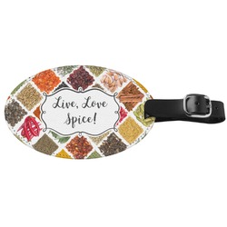 Spices Genuine Leather Luggage Tag (Personalized)
