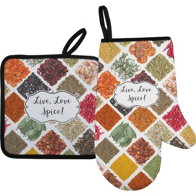 Spices Oven Mitt & Pot Holder (Personalized)